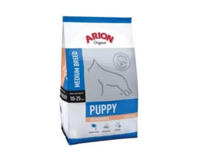 ARION - Original Cachorro Razas Medianas Salmón y Arroz - Formatos 1 Kg, 3 Kg y 12 Kg