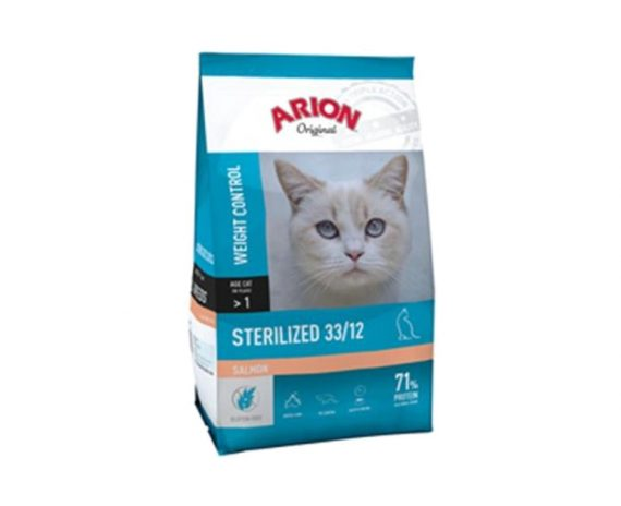 ARION - Original Cat Sterilized Salmón - Formatos 2 Kg y 7.5 Kg