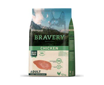 BRAVERY - Adult Chicken 4 Kg y 12Kg