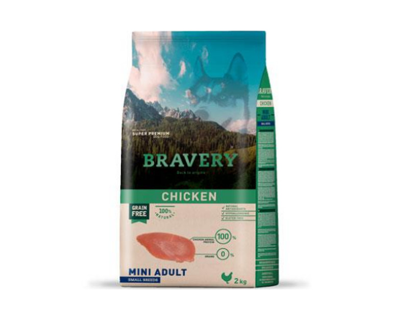 BRAVERY - Mini Adult Chicken - Formatos 2 Kg y 7 Kg