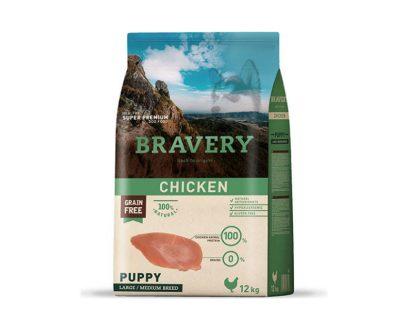 BRAVERY - Puppy Chicken - Formatos 4 Kg y 12 Kg