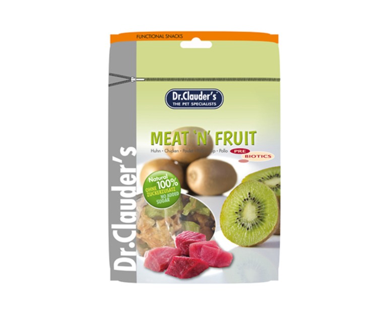 DOCTOR CLAUDER´S Snack Meat&Fruit Taquitos Kiwi-Pollo 80gr