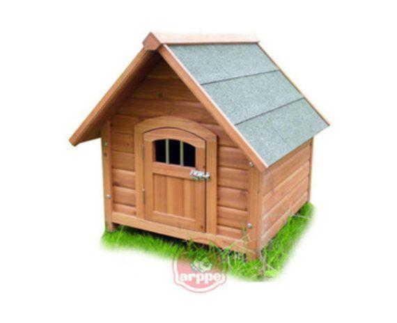 Caseta madera Locking Home con puerta ARPPE para perros