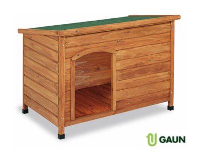 Caseta madera techo plano pequeña, mediana y grande GAUN para perros
