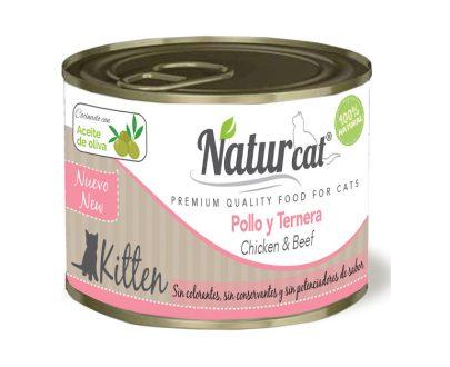 Lata pollo y ternera kitten 200 gr NATURCAT