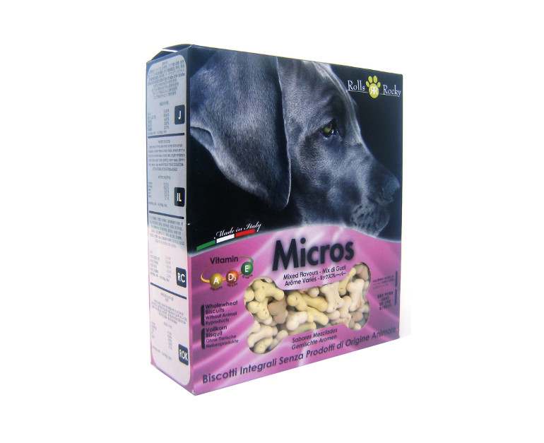 Micros mix 400 gr. galletas huesitos ROLL ROCKEY