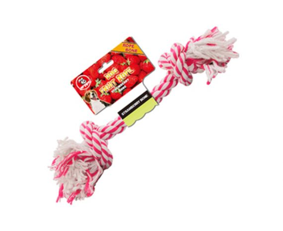 Mordedor algodón aroma fresa 13 cm y 20 cm